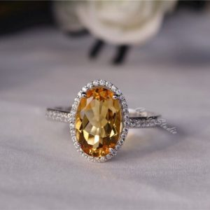 Shop Citrine Rings! Oval Natural Citrine Ring Citrine Engagement Ring/ Wedding Ring 925 Sterling Silver Ring Anniversary Ring Silver Gemstone Ring | Natural genuine Citrine rings, simple unique alternative gemstone engagement rings. #rings #jewelry #bridal #wedding #jewelryaccessories #engagementrings #weddingideas #affiliate #ad