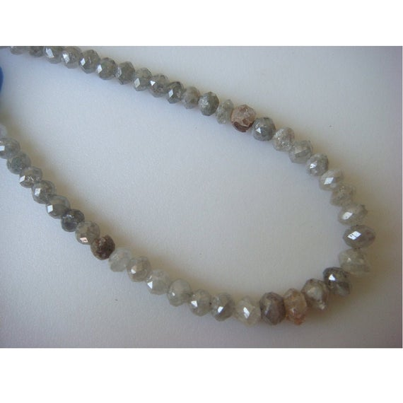 3mm Grey Diamond Faceted Beads, Rough Diamonds, Natural Diamonds, Raw Diamond Faceted Beads For Jewelry (2beads To 20beads Options)