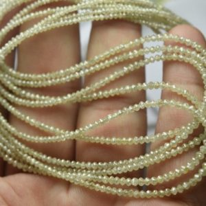 Shop Diamond Faceted Beads! 16 Inches Strand,Finest Quality,Natural Sparkle Yellow Diamond Faceted Rondelles,1.8-3.5mm, | Natural genuine faceted Diamond beads for beading and jewelry making.  #jewelry #beads #beadedjewelry #diyjewelry #jewelrymaking #beadstore #beading #affiliate #ad