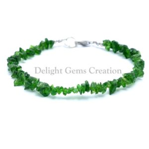 Shop Diopside Bracelets! Chrome Diopside Gemstone Chips Bracelet, Green Chrome Diopside Beaded Bracelet, 4-5mm Uncut Chips Bracelet, Semi Precious 8 Inches Bracelet | Natural genuine Diopside bracelets. Buy crystal jewelry, handmade handcrafted artisan jewelry for women.  Unique handmade gift ideas. #jewelry #beadedbracelets #beadedjewelry #gift #shopping #handmadejewelry #fashion #style #product #bracelets #affiliate #ad