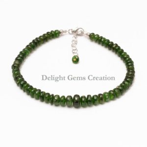 Shop Diopside Bracelets! Chrome Diopside Bracelet, Natural Chrome Diopside Beaded Bracelet, 5mm-7mm Green Stone Chrome Smooth Rondelle Beads Bracelet,Bridesmaid Gift | Natural genuine Diopside bracelets. Buy crystal jewelry, handmade handcrafted artisan jewelry for women.  Unique handmade gift ideas. #jewelry #beadedbracelets #beadedjewelry #gift #shopping #handmadejewelry #fashion #style #product #bracelets #affiliate #ad