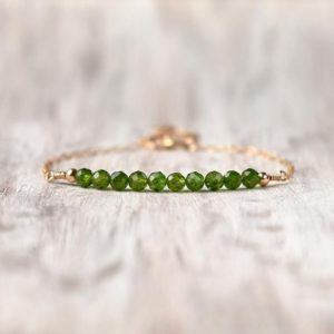 Shop Diopside Bracelets! Chrome diopside bracelet Womens birthday jewelry gold fill Bridesmaid gifts for her Gemstone diopside jewelry Healing stones bracelet | Natural genuine Diopside bracelets. Buy crystal jewelry, handmade handcrafted artisan jewelry for women.  Unique handmade gift ideas. #jewelry #beadedbracelets #beadedjewelry #gift #shopping #handmadejewelry #fashion #style #product #bracelets #affiliate #ad