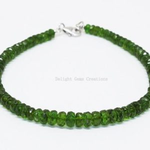 Shop Diopside Bracelets! Natural Chrome Diopside Beaded Bracelet, 4mm-5mm Faceted Chrome Diopside Bracelet ,Sterling Silver Green Bracelet, 8 Inch AAA Chrome Jewelry | Natural genuine Diopside bracelets. Buy crystal jewelry, handmade handcrafted artisan jewelry for women.  Unique handmade gift ideas. #jewelry #beadedbracelets #beadedjewelry #gift #shopping #handmadejewelry #fashion #style #product #bracelets #affiliate #ad