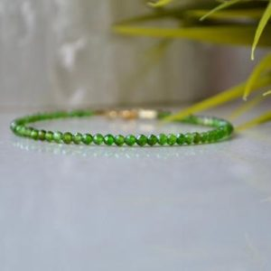 Shop Diopside Bracelets! Russian Chrome Diopside – bracelet femme, Natural Chrome Diopside, delicate gemstone bracelet, rich green color jewelry, Womens bracelet | Natural genuine Diopside bracelets. Buy crystal jewelry, handmade handcrafted artisan jewelry for women.  Unique handmade gift ideas. #jewelry #beadedbracelets #beadedjewelry #gift #shopping #handmadejewelry #fashion #style #product #bracelets #affiliate #ad