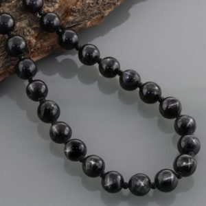 Shop Diopside Necklaces! Rare Black Star Necklace, Natural Black Star Diopside Beads, Sterling Silver Necklace, Genuine Black Star Diopside Gemstone necklace, Gift | Natural genuine Diopside necklaces. Buy crystal jewelry, handmade handcrafted artisan jewelry for women.  Unique handmade gift ideas. #jewelry #beadednecklaces #beadedjewelry #gift #shopping #handmadejewelry #fashion #style #product #necklaces #affiliate #ad