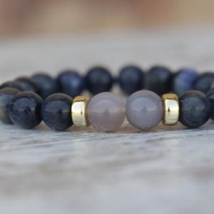 Shop Dumortierite Bracelets! Dumortierite Bracelet, Blue Bracelet, Elegant Bracelet, Statement Bracelet, Healing Bracelet, Gift for Yogi, Exclusive Jewelry, gift for her | Natural genuine Dumortierite bracelets. Buy crystal jewelry, handmade handcrafted artisan jewelry for women.  Unique handmade gift ideas. #jewelry #beadedbracelets #beadedjewelry #gift #shopping #handmadejewelry #fashion #style #product #bracelets #affiliate #ad