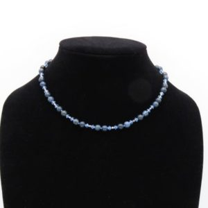 Shop Dumortierite Necklaces! Dumortierite gemstone & crystal beaded necklace | Natural genuine Dumortierite necklaces. Buy crystal jewelry, handmade handcrafted artisan jewelry for women.  Unique handmade gift ideas. #jewelry #beadednecklaces #beadedjewelry #gift #shopping #handmadejewelry #fashion #style #product #necklaces #affiliate #ad