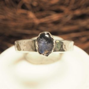 Shop Dumortierite Rings! Dumortierite In Quartz Ring | Natural genuine Dumortierite rings, simple unique handcrafted gemstone rings. #rings #jewelry #shopping #gift #handmade #fashion #style #affiliate #ad