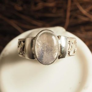 Shop Dumortierite Rings! Dumortierite In Quartz Ring, 925 Sterling Silver | Natural genuine Dumortierite rings, simple unique handcrafted gemstone rings. #rings #jewelry #shopping #gift #handmade #fashion #style #affiliate #ad