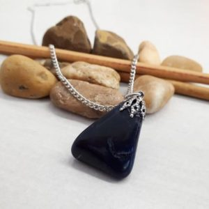Shop Dumortierite Necklaces! Dumortierite Pendant Necklace, Natural Dumortierite Jewelry, Dumortierite Crystal Necklace for Women, Birthstone Necklace,Dumortierite Charm | Natural genuine Dumortierite necklaces. Buy crystal jewelry, handmade handcrafted artisan jewelry for women.  Unique handmade gift ideas. #jewelry #beadednecklaces #beadedjewelry #gift #shopping #handmadejewelry #fashion #style #product #necklaces #affiliate #ad
