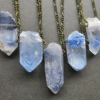 Dumortierite Quartz Necklace – Rare Crystal Necklace – Blue Quartz Pendant – Raw Crystal Pendant – Phantom Quartz Necklace – Crystal Jewelry | Natural genuine Gemstone jewelry. Buy crystal jewelry, handmade handcrafted artisan jewelry for women.  Unique handmade gift ideas. #jewelry #beadedjewelry #beadedjewelry #gift #shopping #handmadejewelry #fashion #style #product #jewelry #affiliate #ad