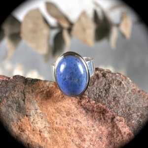 Shop Dumortierite Rings! Dumortierite Sterling Silver ring size 7 3/4 | Natural genuine Dumortierite rings, simple unique handcrafted gemstone rings. #rings #jewelry #shopping #gift #handmade #fashion #style #affiliate #ad