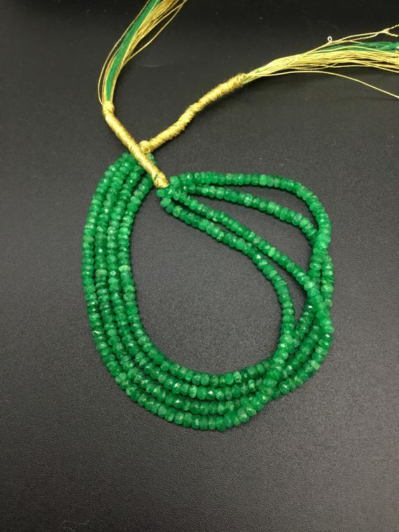 Emerald Beads Colombian Emerald Natural Gemstone Faceted Beads Top Color Emerald Jewellery Making Beads Necklace Gemstone For Jewels