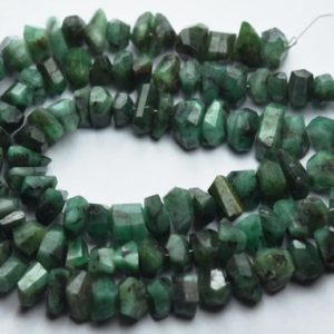 Shop Emerald Chip & Nugget Beads! 7 Inch Strand,Natural Emerald Faceted Fancy Nuggets  Shape Size 7-8mm | Natural genuine chip Emerald beads for beading and jewelry making.  #jewelry #beads #beadedjewelry #diyjewelry #jewelrymaking #beadstore #beading #affiliate #ad