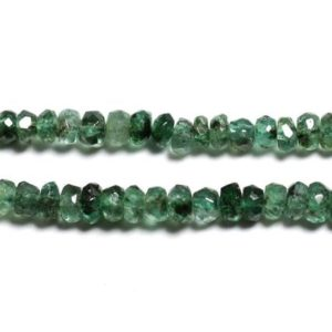 Shop Emerald Beads! 10pc – stone – Zambian Emerald faceted Rondelle 2.5×1.5mm – 4558550090492 beads | Natural genuine beads Emerald beads for beading and jewelry making.  #jewelry #beads #beadedjewelry #diyjewelry #jewelrymaking #beadstore #beading #affiliate #ad