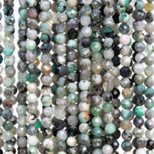 Shop Emerald Faceted Beads! 119 Pcs – 3MM Gray Green Emerald Beads Grade AB Genuine Natural Faceted Round Gemstone Loose Beads (113257) | Natural genuine faceted Emerald beads for beading and jewelry making.  #jewelry #beads #beadedjewelry #diyjewelry #jewelrymaking #beadstore #beading #affiliate #ad