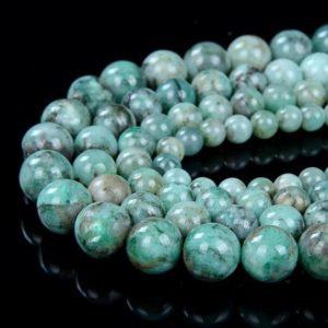 Shop Emerald Beads! Genuine 100% Natural Columbia Emerald Rare Precious Gemstone Light Green Grade AAA 4mm 5mm 6mm 7mm 8mm 9mm 10mm 11mm Round Beads (A290) | Natural genuine beads Emerald beads for beading and jewelry making.  #jewelry #beads #beadedjewelry #diyjewelry #jewelrymaking #beadstore #beading #affiliate #ad