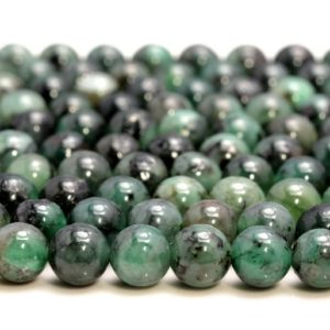 Shop Emerald Beads! Genuine 100% Natural Columbia Emerald Gemstone Green Grade AA 3mm 4mm 5mm 6mm 8mm Round Loose Beads (A244) | Natural genuine beads Emerald beads for beading and jewelry making.  #jewelry #beads #beadedjewelry #diyjewelry #jewelrymaking #beadstore #beading #affiliate #ad