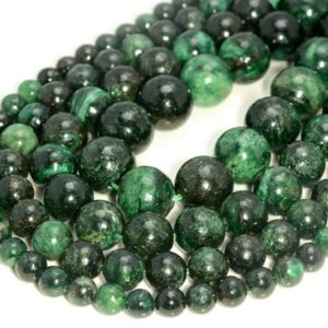 Shop Emerald Beads! Emerald In Fuchsite Gemstone Genuine Natural Rare Green Grade Aaa 8mm 10mm 12mm Round Loose Beads (a210) | Natural genuine beads Emerald beads for beading and jewelry making.  #jewelry #beads #beadedjewelry #diyjewelry #jewelrymaking #beadstore #beading #affiliate #ad