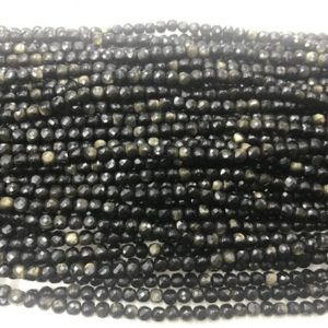 Shop Golden Obsidian Beads! Faceted Golden Obsidian 4-4.5mm Cube Cut Gemstone Loose Beads 15inch Jewelry Supply Bracelet Necklace Material Support Wholesale | Natural genuine faceted Golden Obsidian beads for beading and jewelry making.  #jewelry #beads #beadedjewelry #diyjewelry #jewelrymaking #beadstore #beading #affiliate #ad