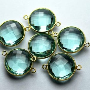 Shop Fluorite Faceted Beads! 925 Sterling Vermeil Silver,FLUORITE Green Quartz Faceted Coins Shape Connector,5 Piece Of  19mm App. | Natural genuine faceted Fluorite beads for beading and jewelry making.  #jewelry #beads #beadedjewelry #diyjewelry #jewelrymaking #beadstore #beading #affiliate #ad