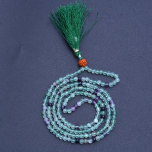 Fluorite Mala Necklace, Green Fluorite Beaded Necklace, Tassel Necklace, Handmade Mala Necklace, 4mm Fluorite Beads, Men's Wrap Mala | Natural genuine Gemstone necklaces. Buy crystal jewelry, handmade handcrafted artisan jewelry for women.  Unique handmade gift ideas. #jewelry #beadednecklaces #beadedjewelry #gift #shopping #handmadejewelry #fashion #style #product #necklaces #affiliate #ad