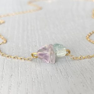 Shop Fluorite Necklaces! Raw Fluorite Necklace – Fluorite Jewelry – Fluorite Gemstone Necklace – Bridesmaid Necklace – Rainbow Crystal Necklace – Feminine Necklace | Natural genuine Fluorite necklaces. Buy crystal jewelry, handmade handcrafted artisan jewelry for women.  Unique handmade gift ideas. #jewelry #beadednecklaces #beadedjewelry #gift #shopping #handmadejewelry #fashion #style #product #necklaces #affiliate #ad