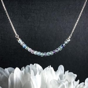 Shop Fluorite Necklaces! Fluorite Necklace Sterling Silver Healing Crystal | Natural genuine Fluorite necklaces. Buy crystal jewelry, handmade handcrafted artisan jewelry for women.  Unique handmade gift ideas. #jewelry #beadednecklaces #beadedjewelry #gift #shopping #handmadejewelry #fashion #style #product #necklaces #affiliate #ad