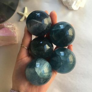 Shop Fluorite Stones & Crystals! Blue Fluorite Sphere,  Blue Fluorite | Natural genuine stones & crystals in various shapes & sizes. Buy raw cut, tumbled, or polished gemstones for making jewelry or crystal healing energy vibration raising reiki stones. #crystals #gemstones #crystalhealing #crystalsandgemstones #energyhealing #affiliate #ad