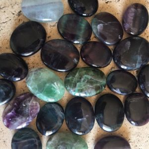 Fluorite Palm Stone, Touch Stone, Increases Concentration, Healing Stone, Healing Crystal, Spiritual Stone, Meditation, Tumbled stone | Natural genuine stones & crystals in various shapes & sizes. Buy raw cut, tumbled, or polished gemstones for making jewelry or crystal healing energy vibration raising reiki stones. #crystals #gemstones #crystalhealing #crystalsandgemstones #energyhealing #affiliate #ad