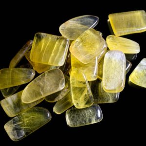 Shop Tumbled Fluorite Crystals & Pocket Stones! Yellow Fluorite Tumbled | Natural genuine stones & crystals in various shapes & sizes. Buy raw cut, tumbled, or polished gemstones for making jewelry or crystal healing energy vibration raising reiki stones. #crystals #gemstones #crystalhealing #crystalsandgemstones #energyhealing #affiliate #ad