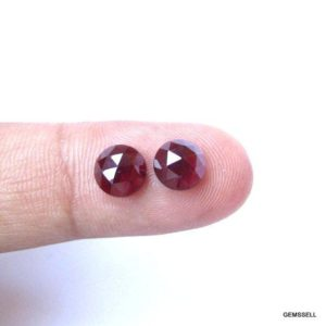 Shop Garnet Cabochons! 2 pieces Pair 7mm Rhodolite Garnet Rosecut Round Cabochon Faceted Gemstone, 100% Natural Rhodolite Garnet Round Rosecut Faceted Gemstone | Natural genuine stones & crystals in various shapes & sizes. Buy raw cut, tumbled, or polished gemstones for making jewelry or crystal healing energy vibration raising reiki stones. #crystals #gemstones #crystalhealing #crystalsandgemstones #energyhealing #affiliate #ad