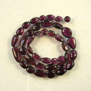 """Shop Garnet Chip & Nugget Beads! Rhodolite pink garnet smooth nugget beads AAA 7-13mm 16.8"""" strand 