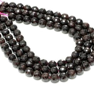 """Shop Garnet Faceted Beads! 10mm round faceted garnet beads,beads wholesale bulk,diy supplies,gemstone beads,lot beads faceted gems,garnet gemstone – 16"""" Strand 