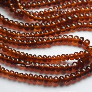 Shop Garnet Rondelle Beads! 18 Inches Strand,Natural Hessonite GARNET Smooth Rondelles. Size 5-8mm | Natural genuine rondelle Garnet beads for beading and jewelry making.  #jewelry #beads #beadedjewelry #diyjewelry #jewelrymaking #beadstore #beading #affiliate #ad