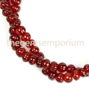 Shop Garnet Rondelle Beads! Mozambique Garnet Carving Rondelle Shape Beads, Mozambique Garnet Carving Beads, Garnet Melon Shape Beads, Garnet Fancy Rondelle Beads | Natural genuine rondelle Garnet beads for beading and jewelry making.  #jewelry #beads #beadedjewelry #diyjewelry #jewelrymaking #beadstore #beading #affiliate #ad