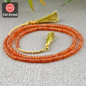 Shop Garnet Rondelle Beads! Natural Spessartite Garnet 3-6mm Smooth Rondelle Shape Gemstone Beads / Approx. 184 Pieces On 18 Inch Long Strand / Jbc-et-156739 | Natural genuine rondelle Garnet beads for beading and jewelry making.  #jewelry #beads #beadedjewelry #diyjewelry #jewelrymaking #beadstore #beading #affiliate #ad