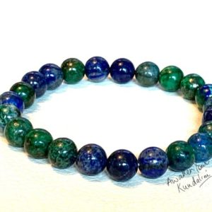 Shop Azurite Bracelets! Genuine Azurite Bracelet Gift for Her & Him, AAA grade Mens Beaded Bracelet Gift, Healing Chakra Bracelet,Azurite Bracelet Graduation Gift | Natural genuine Azurite bracelets. Buy handcrafted artisan men's jewelry, gifts for men.  Unique handmade mens fashion accessories. #jewelry #beadedbracelets #beadedjewelry #shopping #gift #handmadejewelry #bracelets #affiliate #ad