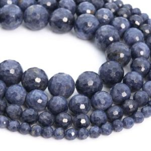 Shop Sapphire Round Beads! Genuine Natural Myanmar Sapphire Loose Beads Grade AA Micro Faceted Round Shape 6-7mm 7-8mm | Natural genuine round Sapphire beads for beading and jewelry making.  #jewelry #beads #beadedjewelry #diyjewelry #jewelrymaking #beadstore #beading #affiliate #ad