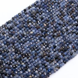 Shop Sapphire Round Beads! Genuine Natural Myanmar Sapphire Loose Beads Grade A Faceted Round Shape 2mm | Natural genuine round Sapphire beads for beading and jewelry making.  #jewelry #beads #beadedjewelry #diyjewelry #jewelrymaking #beadstore #beading #affiliate #ad