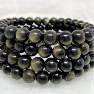 Shop Golden Obsidian Bracelets! Golden Obsidian Bracelet 8MM A Round Bead Bracelet,  Gemstone Bracelet Healing Stones | Natural genuine Golden Obsidian bracelets. Buy crystal jewelry, handmade handcrafted artisan jewelry for women.  Unique handmade gift ideas. #jewelry #beadedbracelets #beadedjewelry #gift #shopping #handmadejewelry #fashion #style #product #bracelets #affiliate #ad