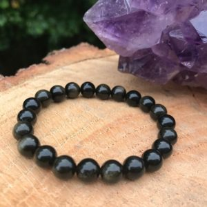 Shop Golden Obsidian Bracelets! Golden Obsidian Bracelet | Chakra Healing | Grounding | Psychic Attack | Manifest | Abundance | Purify Aura | Negative Energy | Protection | Natural genuine Golden Obsidian bracelets. Buy crystal jewelry, handmade handcrafted artisan jewelry for women.  Unique handmade gift ideas. #jewelry #beadedbracelets #beadedjewelry #gift #shopping #handmadejewelry #fashion #style #product #bracelets #affiliate #ad