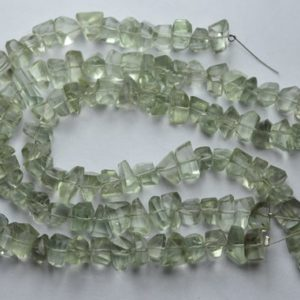 Shop Green Amethyst Beads! 7 Inch Strand,Natural Green Amethyst Faceted Fancy Nuggets  Shape Size 7-8mm | Natural genuine chip Green Amethyst beads for beading and jewelry making.  #jewelry #beads #beadedjewelry #diyjewelry #jewelrymaking #beadstore #beading #affiliate #ad