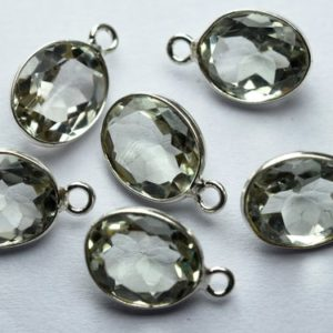 Shop Green Amethyst Beads! 925 Sterling Silver,Natural Green Amethyst Faceted Cushion Shape Connector,5 Piece Of  15mm App. | Natural genuine faceted Green Amethyst beads for beading and jewelry making.  #jewelry #beads #beadedjewelry #diyjewelry #jewelrymaking #beadstore #beading #affiliate #ad