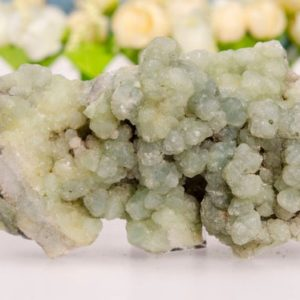 Green Prehnite Cluster Raw Natural Gemstone Botryoidal Stone-Epidote-Quartz Geode-Gift For Her/Him-Decor-Chakra&Reiki-Healing | Natural genuine stones & crystals in various shapes & sizes. Buy raw cut, tumbled, or polished gemstones for making jewelry or crystal healing energy vibration raising reiki stones. #crystals #gemstones #crystalhealing #crystalsandgemstones #energyhealing #affiliate #ad
