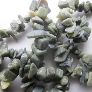 Shop Serpentine Chip & Nugget Beads! Green Serpentine Chip Beads 10-18mm 24 Beads | Natural genuine chip Serpentine beads for beading and jewelry making.  #jewelry #beads #beadedjewelry #diyjewelry #jewelrymaking #beadstore #beading #affiliate #ad