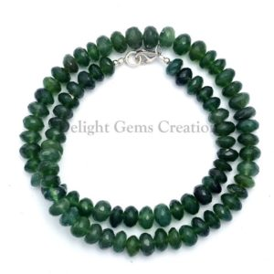 Shop Serpentine Necklaces! GREEN SERPENTINE Faceted Roundel Beads Necklace, 8mm-9mm Faceted Rondelle Beads, Semi Precious, AAA++ Quality Elegant Party Necklace, Gift | Natural genuine Serpentine necklaces. Buy crystal jewelry, handmade handcrafted artisan jewelry for women.  Unique handmade gift ideas. #jewelry #beadednecklaces #beadedjewelry #gift #shopping #handmadejewelry #fashion #style #product #necklaces #affiliate #ad