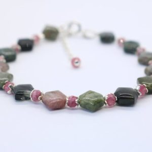 Shop Pink Tourmaline Bracelets! Green Tourmaline Bracelet, Pink Tourmaline, Polyhrom Tourmaline, multicolor, Watermelon Tourmaline,stacking, layering | Natural genuine Pink Tourmaline bracelets. Buy crystal jewelry, handmade handcrafted artisan jewelry for women.  Unique handmade gift ideas. #jewelry #beadedbracelets #beadedjewelry #gift #shopping #handmadejewelry #fashion #style #product #bracelets #affiliate #ad