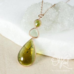 Shop Green Tourmaline Jewelry! Green Tourmaline Necklace, Shades of Green, Teardrop Necklace, 3 Tier Necklace | Natural genuine Green Tourmaline jewelry. Buy crystal jewelry, handmade handcrafted artisan jewelry for women.  Unique handmade gift ideas. #jewelry #beadedjewelry #beadedjewelry #gift #shopping #handmadejewelry #fashion #style #product #jewelry #affiliate #ad