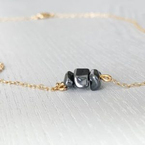 Shop Hematite Necklaces! Hematite Necklace Gold- Hematite Jewelry – Protection Necklace – Black Crystal Necklace- Emf Necklace – Crystal Gift Idea – Hematite Crystal | Natural genuine Hematite necklaces. Buy crystal jewelry, handmade handcrafted artisan jewelry for women.  Unique handmade gift ideas. #jewelry #beadednecklaces #beadedjewelry #gift #shopping #handmadejewelry #fashion #style #product #necklaces #affiliate #ad